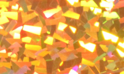 Holographic Gold Crystal