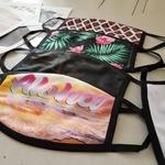 Fully sublimated. No fading, cracking, or peeling for the life of the garment! Sublimatable Masks now available at heatpresshawaii.com #hph #heatpresshawaii #alloverprint #custom #facemask